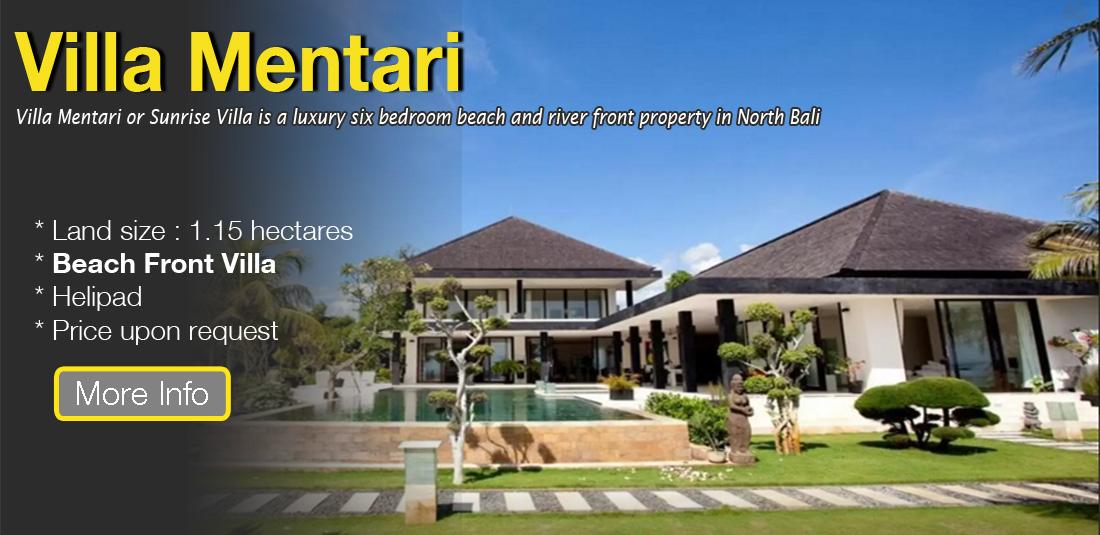 Villa For Sale at Lovina with Beach Front Location & Helipad Facilty